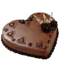 1 kg cake in heart shape