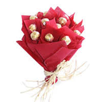 24 ferrero rocher chocolates bouquet