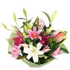 A bouquet of lilies flowers