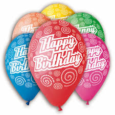 25 helium Happy birthday balloons