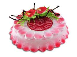 Card and 1 kg strawberry cake