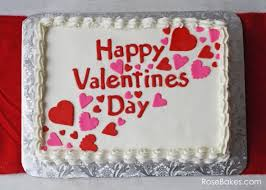 1 Kg round Butterscotch cake with ICING HAPPY VALENTINES DAY