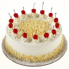 Card and 1 kg white forest cake